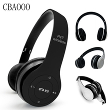 CBAOOO Bluetooth Headphone Wireless Headset Foldable Stereo Earphones Headband Handsfree Headphones With Mic TF Card FM Radio