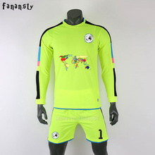 Survetement football 2017 soccer jerseys men custom football jerseys long Sleeve goalkeeper uniforms men football set suit(China)