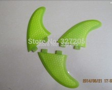 Hot Glassfiber Honeycomb surf fin Tri G5 set for SUP, surfboard, stand up paddle board accessories blue green 3pcs/set