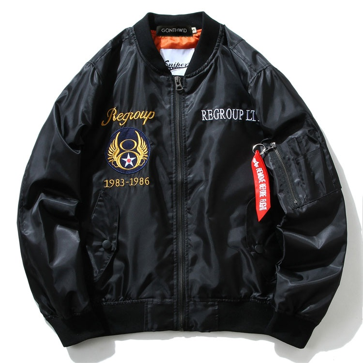 Embroidery Dragon Bomber Jackets 2