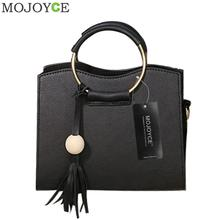 Buy Fashion PU Leather Women Handbag Tassel Shoulder Bag Women Top Handle Handbags Metal Ring Shoulder Bags Vintage Messenger Bags for $9.52 in AliExpress store