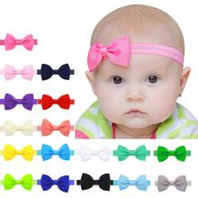 girl kids elastics hair head bands flower satin ribbon bows headband accessories gum for new borns hair wrap hairband tiara