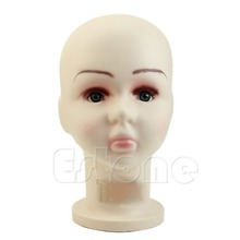 E74 Hot 1PC Children Mannequins Manikin Head Wig Hats Mould Show Stand Model Display Medium Size(China)