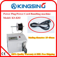 Desktop Power cord cable binding machine/wire banding / toroidal coil tying machine KS-K03+ Free Shipping by DHL air express(China)