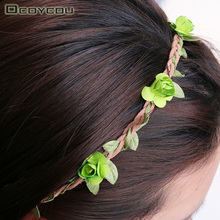 7PCS Different Colors Hair Accessories Girls Headbands Rose Flowers Crown Wedding Hair Accessory Flores Headband for Women(China)