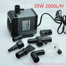 SUPER  35W 2000L/H Aquarium Poweheader Submersible Pump Fish Tank Water Pump Liquid Filter Various Outlet Connectors