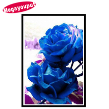Megayouput 5d diy diamond Painting Cross Stitch diamond Embroidery rose picture round drill Diamond Mosaic pattern Home Decor