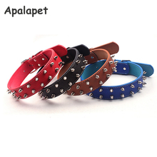 Personalized Pet Collars Leather Spiked Dog Collars For Pitbulls Cat Collar Plain Dog Collars For Large Dogs