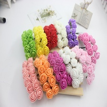144 PCS rose PE flower sweet box gift accessories Hair hoop wreath accessories Decorate the whole package to sell roses