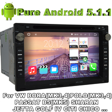 Pure Android 5.1.1 Car DVD for PEUGEOT 307 SEAT ALHAMBRA CORDOBA 6L IBIZA 6L LEON 1M TOLEDO 1M SUPERB With Quad Core 2G ROM