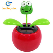 LeadingStar Solar Powered Dancing Flower Frog Great as Gift or Decoration Children Solar Toy Gadget Furnishing Articles zk15(China)