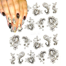 1 sheet Fashion Flower Nail Stickers Water Transfer Decals Foils Polish DIY Nail Art Tools Nails Beauty Accessories SABLE891(China)