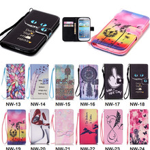 S3 Wallet Covers PU Leather Cell Phone Flip Cases Cover For Samsung Galaxy S3 S III 3 GT-i9300 i9300 with Card Slots Stand