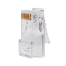 100 Piece/Packs Connector RJ45 8P8C Cable Modular Plug Heads Cat5 Cat5e Network Internet 2017 New(China)