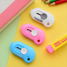 1pcs 5.8*3.3cm colorful kawaii  mini utility knife alloy steel materail portable Paper cutter knife office school supplies