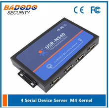 9-24VDC USR-N540 Four Serial Ethernet Converter RS232 RS485 RS422 RJ45 Server ,Support TCP/UDP/Httpd/WEB to Serial(China)