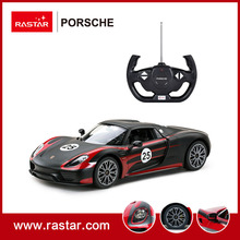 Rastar Licensed PORSCHE 918 Performance 1:14 Injection Mould Body Plastic Model black stock Kits Remote Control Car 70770