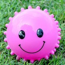 3Pcs/Lot Colorful Soft Plastic Toy Balls Smiling Face Baby Kid Inflatable Hand Caught Learning Grasping Children's Favor Gift(China)