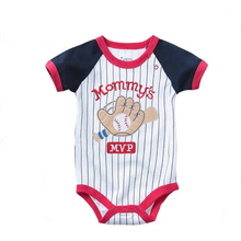 Baby clothes Newborn Baby Boy rompers summer 2016 Baby Clothes pattern of Infant Girls Ropmpers  Baby Baseball Costumes