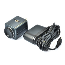 Mini BNC Industrial Microscope 800TVL Microscope Camera with 12V AC Power Adapter Support Auto Iris C Mount Microscope