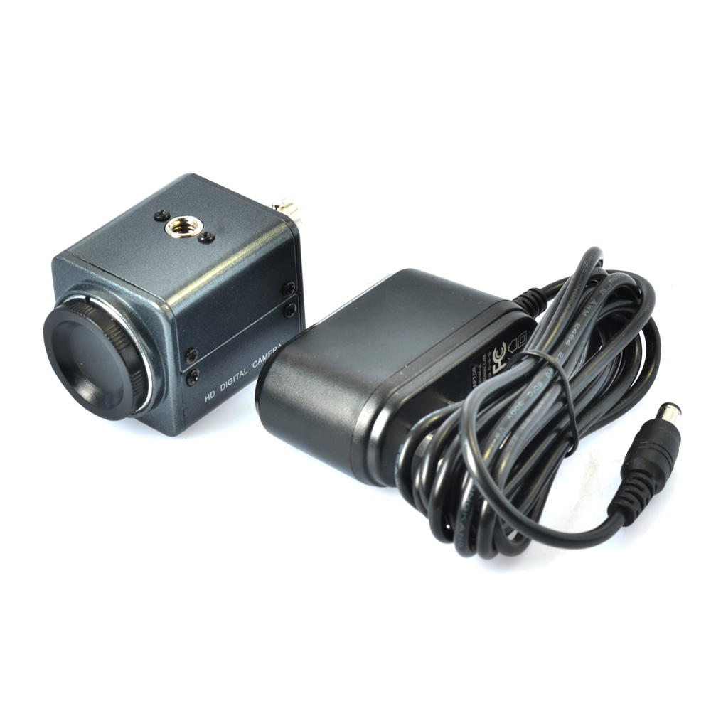 Mini BNC Industrial Microscope 800TVL Microscope Camera with 12V AC Power Adapter Support Auto Iris C Mount Microscope<br>