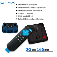 OTHA ZX-918 Mini Android 7.1 Smart TV BOX 2GB16GB RK3328 Quad-Core 64bit Set-top WiFi HDMI 2.0 Media Player TF Cards Reader(China)