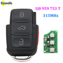 FOR VOLKSWAGEN VW GOLF PASSAT BEETLE REMOTE CONTROL KEY FOB TRANSMITTER 1J0 959 753 T 315 MHZ WITH ELECTRONICS 1J0959753T(China)