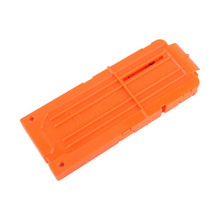 1PCS 12 Reload Clip Magazines Round Darts Replacement Plastic Magazines Toy Gun Soft Bullet Clip Orange For Nerf(China)