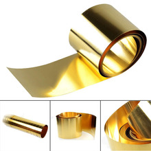 1pc New Brass Sheet Metal Thin Foil Belt Metalworking Supplies 0.02x100x1000mm with Corrosion Resistance