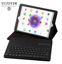 separate Leather Case+wireless Bluetooth Keyboard for apple ipad air 1/air 2 for ipad pro 9.7 for ipad 2017 new 9.7 stand bag(China)
