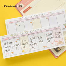2017 New Arrival Fresh Style Weekly Planner Schedule Memo Pad Sticky Notes Escolar Papelaria School Supply Bookmark Post it(China)