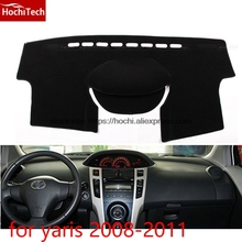 dashboard mat Protective pad Shade Cushion Photophobism Pad car styling accessories for toyota yaris L 2008 to 2016(China)