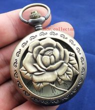 Elaborate Chinese antique imitation old rose statue mechanical pocket watch(China)