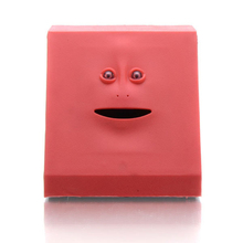 1Piece Face Money Eating Box Cute Facebank Piggy Bank for Coins Box Money Coin Saving Bank for Children Toys Gifts