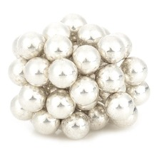 DIY 5mm Neodymium Magnet Spheres - Silver (50 PCS)(China)