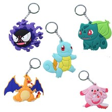 Gengar Squirtle Bulbasaur Jigglypuff Charizard Soft Jewelry pendant Chain pendant color metal Collectible gifts(China)