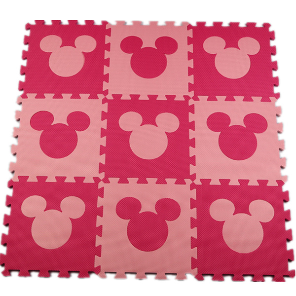 Meiqiku Lovely EVA Puzzle Carpet Baby Play Mat Floor Puzzle Mat Children Foam Carpet Mosaic floor mickey(China (Mainland))