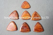 "7Pcs Beautiful Solid maple wood Guitar Pick,material thickness:0.12""(3mm) #200"