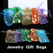 Jewelry Gift Bags NEW 50 pcs Organza Jewelry Candy Pendent  Mini Gift Pouch Bags Wedding