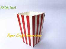 12pcs/lot Mini Red Striped Party Popcorn Boxes Pop corn Bags Snack Favor Boxes Wedding Birthday Outdoor Festive Party Supplies