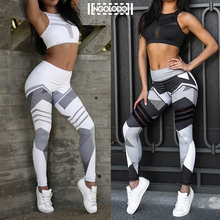 Buy Women Sporting Fitness Leggings Clothing female white black sexy color High Waist Pants Leggin Elastic Workout Jeggings for $10.09 in AliExpress store