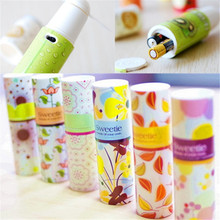 Portable Mini Handheld Fan Cooling Small Battery Power Coolerful Lipstick Shape Cooler Summer Cool Fan(China)
