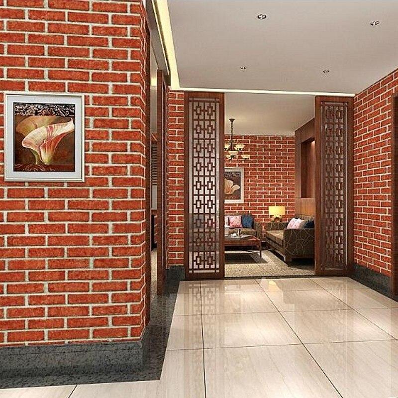 beibehang 3D Chinese antique  brick wallpaper pattern wallpaper white brick hotel restaurant hotel restaurant gray bricks <br>