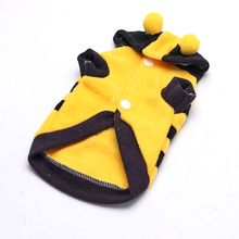 Pet Dog Puppy Dress Cute Honey Bumble Bee Design Costume Outfit Apparel Clothes