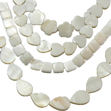 Approx 16-90pcs Round Natural MOP Beads Freshwater Shell Beads For Jewelry Making Necklace Bracelet DIY Jewelry Findings(China)