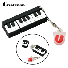 Retail Genuine Silicone Piano USB Flash Drive Thumb Pen drive Memory Stick Flash Disk 2GB 4GB 8GB 16GB 32GB 64GB(China)
