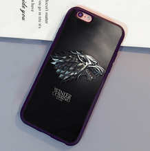 Game of Throne Winter is coming Print Mobile Phone Cases For iPhone 6 6S Plus 7 7 Plus 5 5S 5C SE 4S Soft Rubber Skin Back Cover