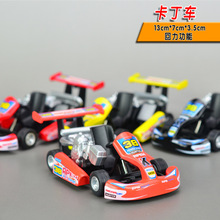 Candice guo alloy car model 1:36 cool KARTING Go-Kart kart racing game sport vehicle plastic motor pull back birthday gift toy