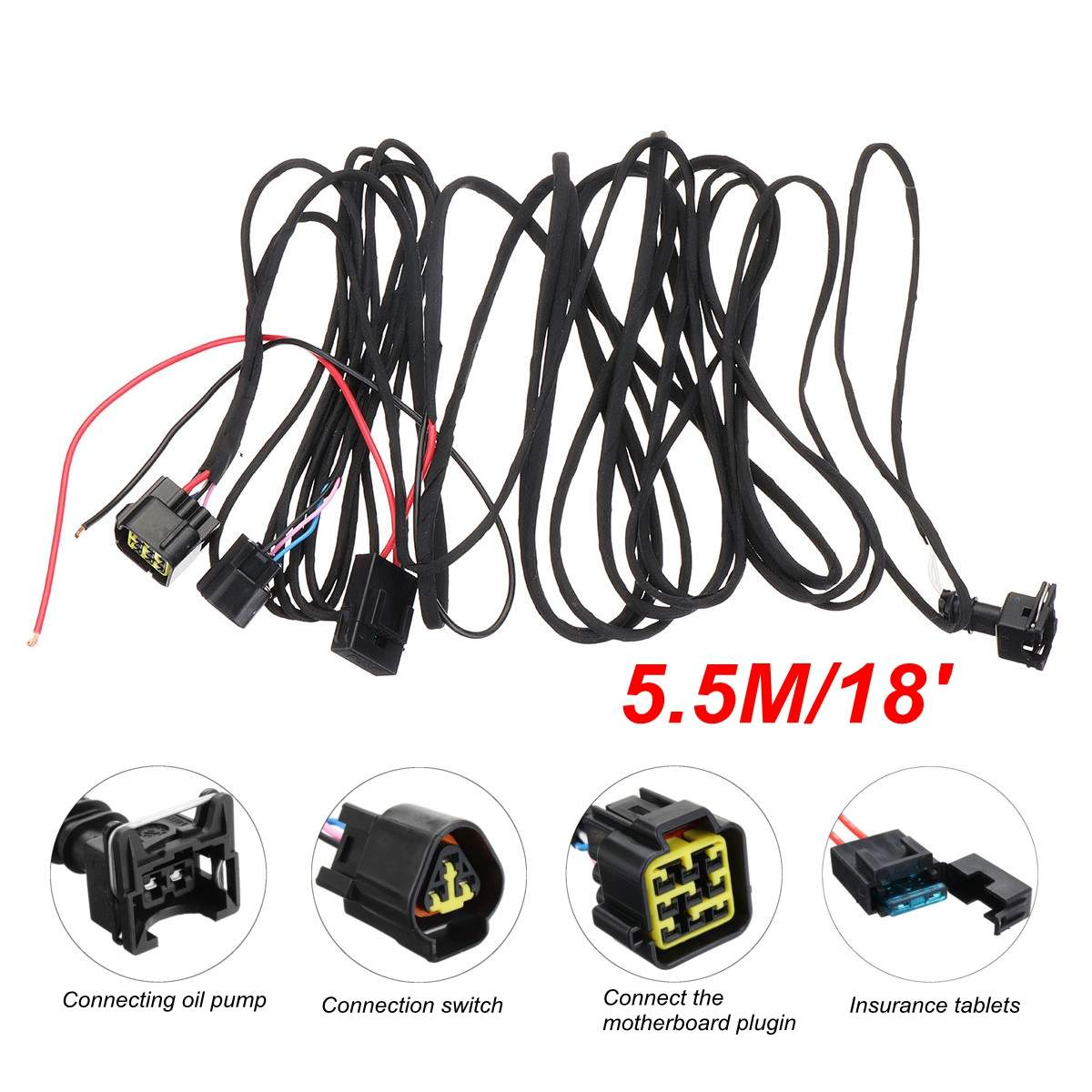 Akozon Separated Type Diesel Parking Heater Main Wire Harness Kit Heater Harness