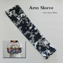 2017 Navy Blue/Grey/White Compression Sports camo Arm Sleeve 1 pair=2pcs 7 size(China)